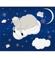 A lamb on a cloud vector image