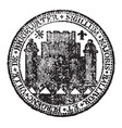 a seal representing the city of bridgewater vector image