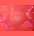 abstract pink living coral landing page web vector image
