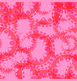 Abstract pink seamless pattern of gears