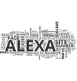 alexa traffic rank what it is and why you should vector image vector image