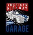 american highway vector image