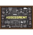Assessment on chalkboard vector image