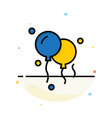 balloons decoration abstract flat color icon vector image