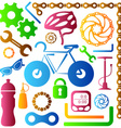 Bike tools icons vector image vector image