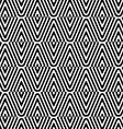 Black and white striped diamonds split and rounded vector image