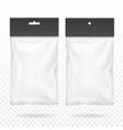 black blank plastic pocket bag transparent set vector image vector image