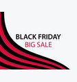 black friday sale banner with red and black vector image vector image