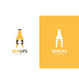 bottle and arrow up logo combination beer vector image vector image