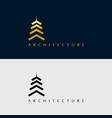 building architecture icon logo design template vector image vector image