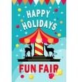 Carousel fun fair vector image vector image