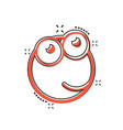 cartoon face icon in comic style smiley face vector image vector image