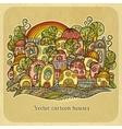 Cartoon fairy-tale spring houses vector image vector image