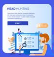 character do social media monitoring headhunting vector image vector image