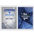 City Christmas Postcard vector image