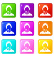 client services phone assistance set 9 vector image vector image