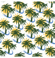 coconut tree print for textile design vector image vector image