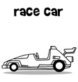Collection transport of race car vector image vector image