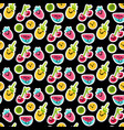 color fruits emoji seamless pattern vector image