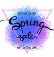 colorful crayon scribble poster spring sale vector image vector image