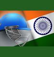 cricket helmet and american flag vector image vector image