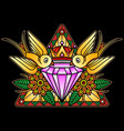 crystal flash tattoo design vector image