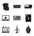 damage icons set simple style vector image vector image