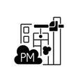 demolition sites black linear icon vector image