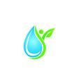 drop water leaf people vector image