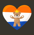 Dutch Royal Teddy Bear vector image vector image