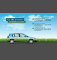 eco car on nature background vector image vector image