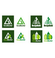 eco design real estate logo home building logo vector image