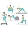 female workout set vector image