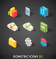 Flat Isometric Icons Set 2 vector image vector image