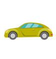green car cartoon vector image vector image