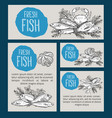 hand drawn seafood design vector image vector image