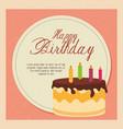 happy birthday cake card vector image vector image