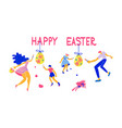 happy easter horizontal greeting banner vector image vector image