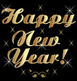 happy new year golden text vector image