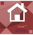 house Flat modern web design on a flat geometric vector image