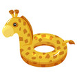 inflatable summer circle giraffe water cute toy vector image vector image