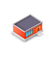 isometric industrial building model concept vector image vector image