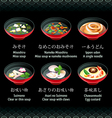 Japanese soup vector image vector image