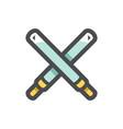 light swords crossed icon cartoon vector image vector image