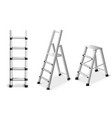 metal ladders realistic set vector image