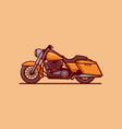 mini motorcycle vector image