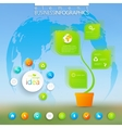 Modern green infographic Can be used for vector image vector image