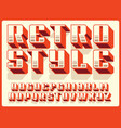 modern professional 3d alphabet retro style vector image vector image