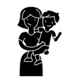 mother with son - mum with kid icon vector image vector image