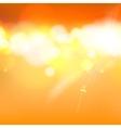 Orange abstract bokeh vector image